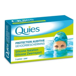 Quies Protections auditives anti eau en silicone taille adulte