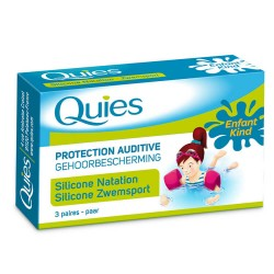 Quies Protections auditives anti eau en silicone taille enfant