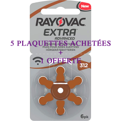 Rayovac Extra Advanced 312 5 plaquettes